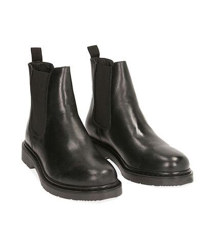 Chelsea boots neri in pelle , Valerio 1966, 1877T6120PENERO039, 002