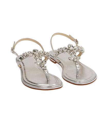 Sandali gioiello argento laminato , Valerio 1966, 1721T1838LMARGE035, 002