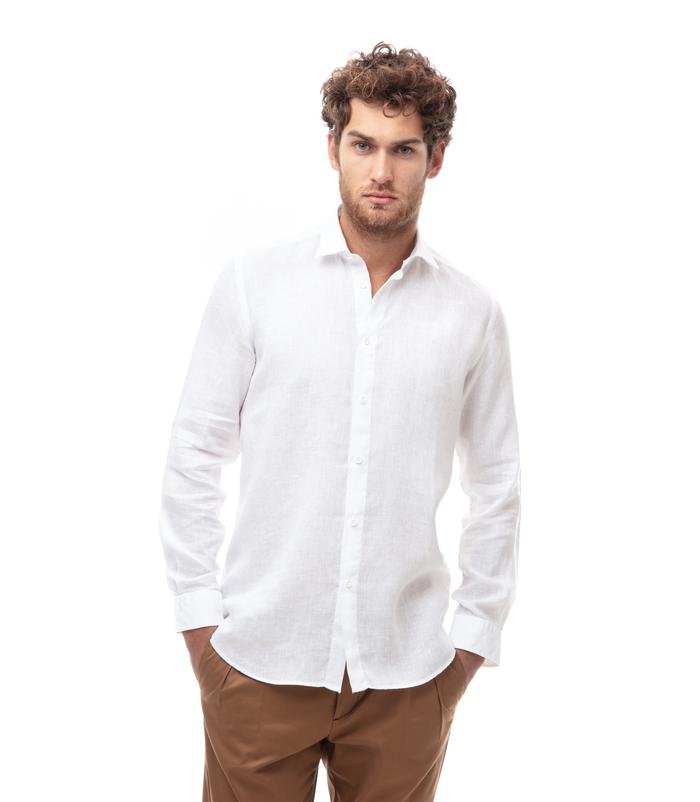 buy online 3e4ff ec5f2 Camicia bianca in lino