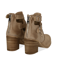 Ankle boots beige in nabuk con cinturini, tacco 7 cm, Valerio 1966, 1156T1601NBBEIG036, 004 preview