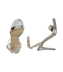 Sandali argento in eco-pelle laminata, tacco 10,50 cm , Valerio 1966, 1521T7401LMARGE036, 003 preview