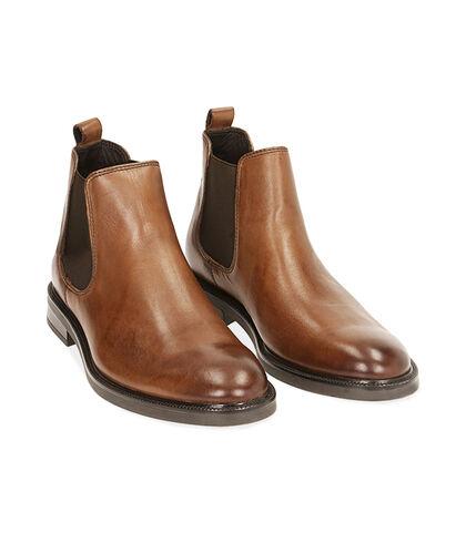 Chelsea boots testa di moro in pelle di vitello, Valerio 1966, 1877T0608VIMORO039, 002