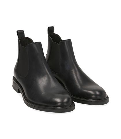 Chelsea boots neri in vitello , Scarpe, 1477T0608VINERO039, 002
