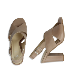 Sandali taupe in pelle , DONNA, 11D6T1063VITAUP036, 003 preview