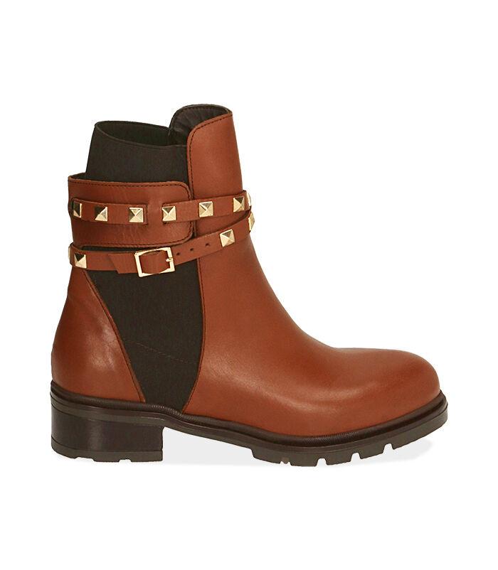 Chelsea boots cognac in pelle, Valerio 1966, 18A5T0505PECOGN036