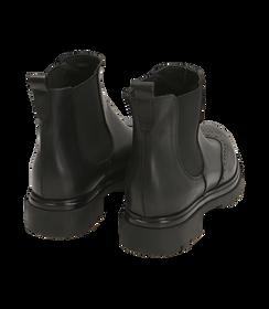 Chelsea boots neri in pelle di vitello con lavorazione Duilio, SALDI DONNA, 16A5T0038VINERO036, 004 preview