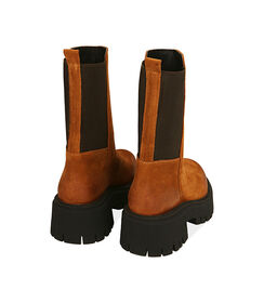 Chelsea boots cognac in camoscio, tacco 5,5 cm , Valerio 1966, 1872T4401CMCOGN036, 004 preview