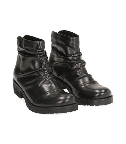 Stivali bassi neri in pelle di vitello , Valerio 1966, 14A2T0360VINERO035, 002
