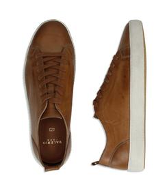 Sneakers cuoio in pelle con suola bianca, UOMO, 1377T8081PECUOI040, 003 preview