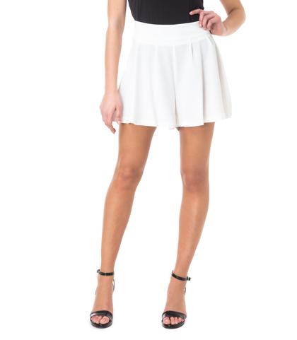 Shorts bianchi effetto gonna, 11G7T7639TSBIAN40, 002