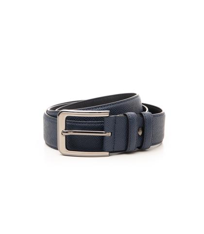 Cintura blu in pelle, Accessori, 10A4T1717PEBLUE090, 001