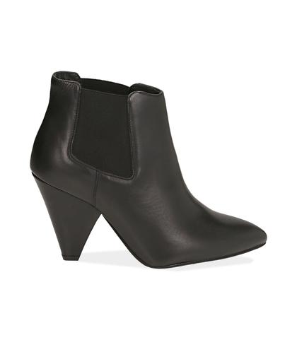 Chelsea boots neri in pelle di vitello , Valerio 1966, 12D6T3910VINERO035, 001