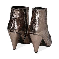 Ankle boots bronzo effetto pitone, Valerio 1966, 12A4T3141PTBRON035, 004 preview