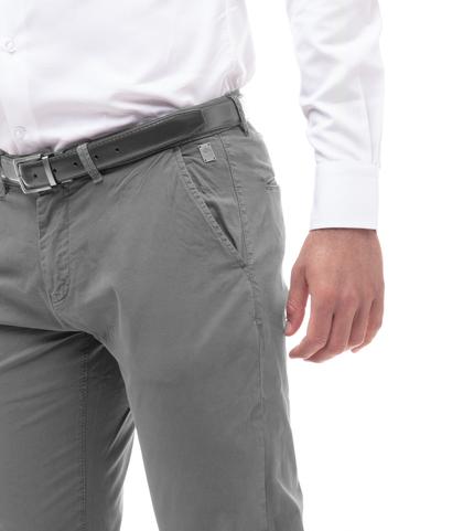 Pantaloni chino grigi in cotone, Abbigliamento, 11G5T2071TSGRIG46, 002
