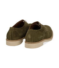 Stringate verde in camoscio, Scarpe, 1198T5610CMVERD040, 004 preview