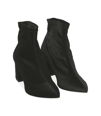 Ankle boots neri in velluto , Valerio 1966, 1002T4158VLNERO035, 002