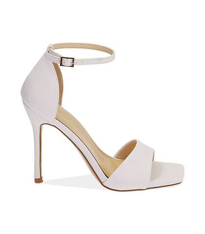 Sandali bianchi, tacco 10,5 cm , Valerio 1966, 1721T4210EPBIAN035, 001