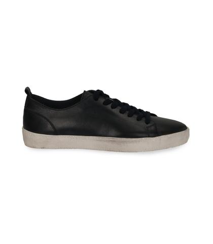 Sneakers blu in pelle con suola bianca, Scarpe, 1377T8081PEBLUE040, 001
