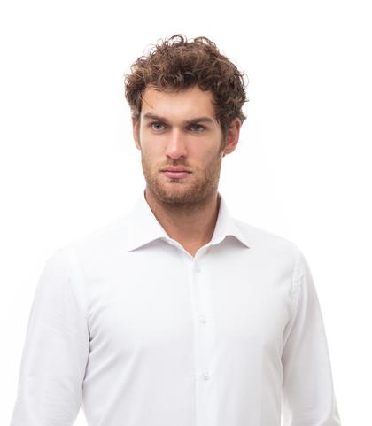 Camicia bianca in cotone, Abbigliamento, 13H9T8200TSBIAN39, 002