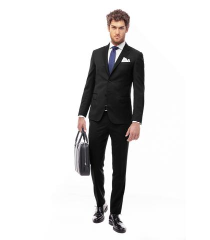 Abito nero,giacca monopetto, Abbigliamento, 13T1T1815TSNERO46, 001