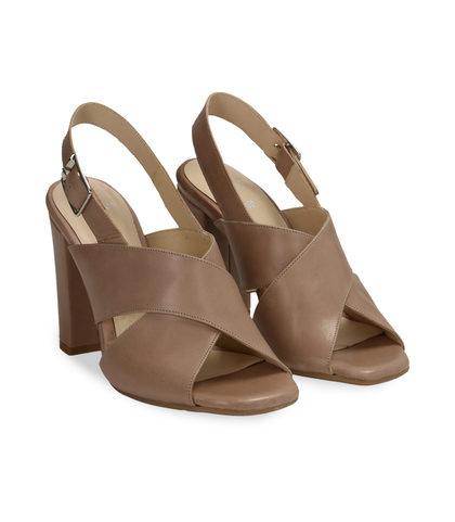 Sandali taupe in pelle , DONNA, 11D6T1063VITAUP036, 002