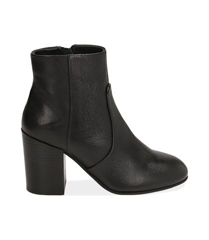 Ankle boots neri in pelle, Valerio 1966, 1253T3009PENERO035, 001