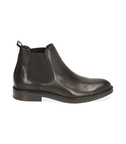 Chelsea boots neri in pelle di vitello, Valerio 1966, 1877T0608VINERO039, 001