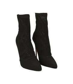 Ankle boots neri in tessuto elastico, Valerio 1966, 1021T8510TSNERO036, 002 preview