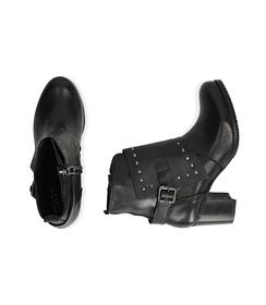 Ankle boots con borchie neri in pelle, Valerio 1966, 1007T5025PENERO036, 003 preview