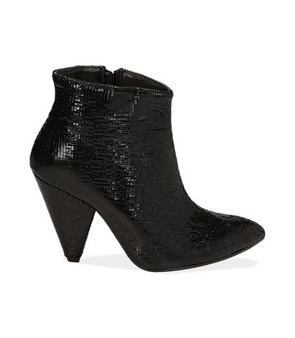 Ankle boots neri effetto pitone, Valerio 1966, 12A4T3141PTNERO035, 001