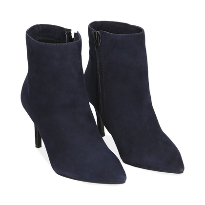 Ankle boots blu in camoscio , Scarpe, 12D6T8502CMBLUE035, 002