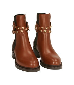 Chelsea boots cognac in pelle, Valerio 1966, 18A5T0505PECOGN036, 002 preview