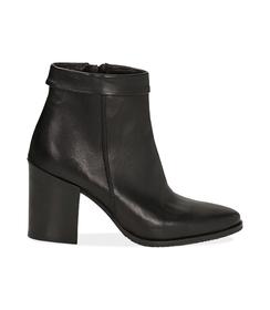 Ankle boots neri in pelle di vitello , Valerio 1966, 1456T0074VINERO036, 001 preview