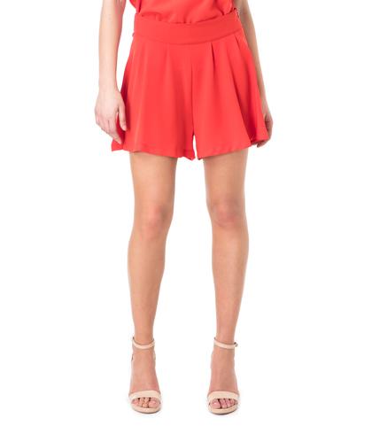 Shorts rosso effetto gonna, Valerio 1966, 11G7T7639TSROSS40, 002