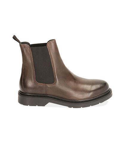 Chelsea boots testa di moro in pelle, Valerio 1966, 1877T6120PEMORO039, 001