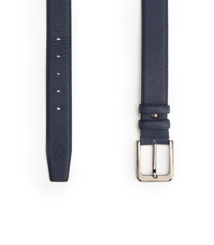 Cintura blu in pelle, Accessori, 10A4T1717PEBLUE090, 003
