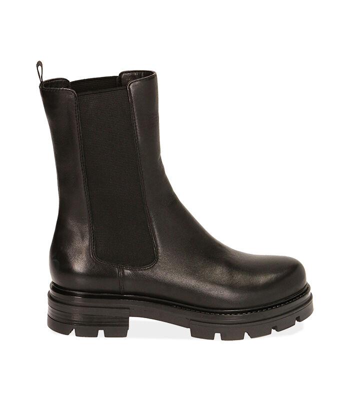 Chelsea boots neri in pelle, Valerio 1966, 1877T1309PENERO035