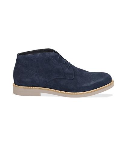 Desert boots blu in camoscio , Valerio 1966, 1198T5847CMBLUE040, 001
