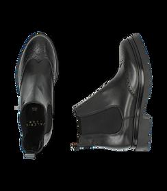 Chelsea boots neri in pelle di vitello con lavorazione Duilio, SALDI DONNA, 16A5T0038VINERO036, 003 preview