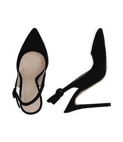 Slingback nere in camoscio, tacco 11,50 cm, Scarpe, 13D6T0102CMNERO036, 003 preview
