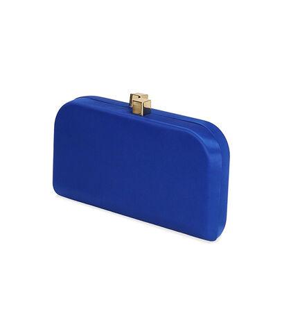Clutch blu in raso , SALDI DONNA, 1751T9569RSBLUEUNI, 002