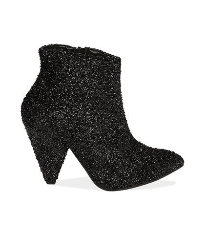 Ankle boots neri glitter, Valerio 1966, 12A4T3692GLNERO035, 001