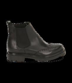 Chelsea boots neri in pelle di vitello con lavorazione Duilio, SALDI DONNA, 16A5T0038VINERO036, 001 preview