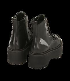 Anfibi neri in pelle di vitello, platform 5 cm , SALDI DONNA, 1689T4001VINERO035, 004 preview