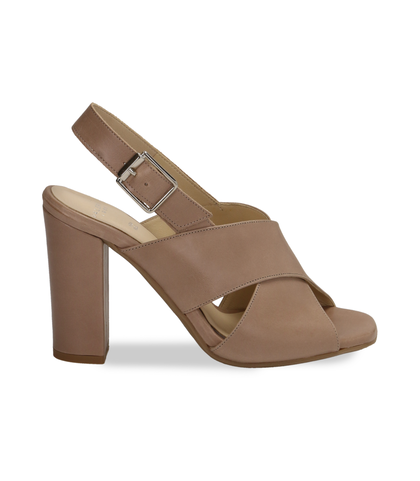 Sandali taupe in pelle , DONNA, 11D6T1063VITAUP036, 001