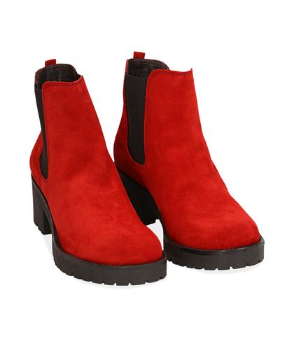 Chelsea boots rossi in camoscio, Valerio 1966, 1260T1116CMROSS035, 002