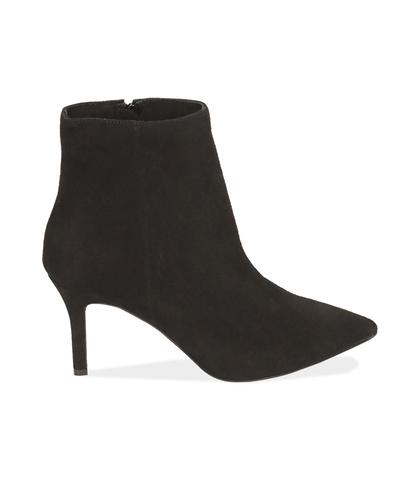 Ankle boots neri in camoscio , Valerio 1966, 12D6T8502CMNERO035, 001