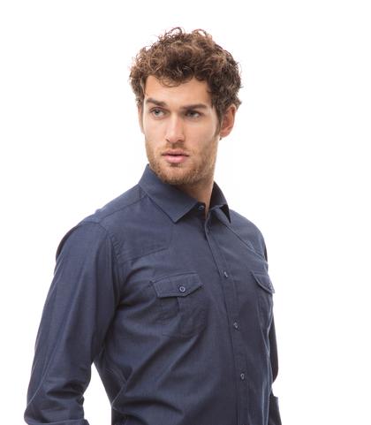 Camicia jeans, slim fit, Abbigliamento, 13H9T8501TSJEAN39, 002