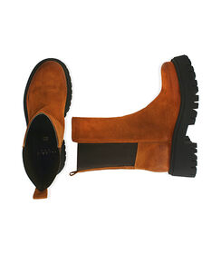 Chelsea boots cognac in camoscio, tacco 5,5 cm , Valerio 1966, 1872T4401CMCOGN036, 003 preview