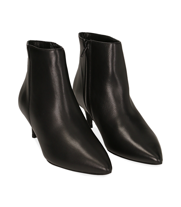 Ankle boots neri in pelle di vitello Scarpe, 12D6T8402VINERO036